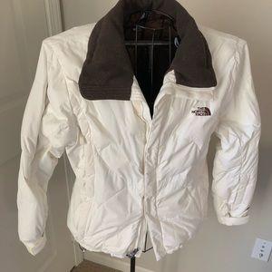 The North Face white ski jacket